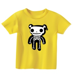 teddy in bones vector image