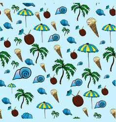 tropical pattern drawing by vector image vector image