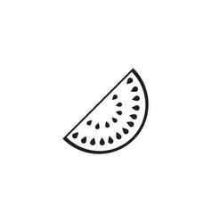 watermelon solid icon healthy fruit vector image vector image