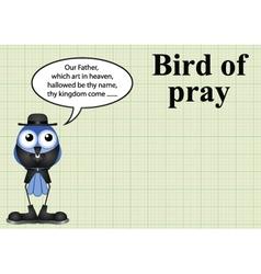 Comical bird of pray vicar vector image
