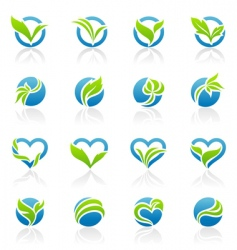leaves logo templates vector image