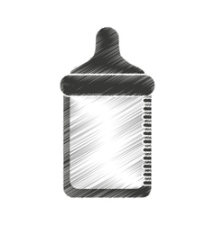 Bottle milk baby isolated icon vector