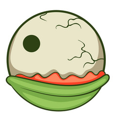 Creepy eyeball icon cartoon style vector