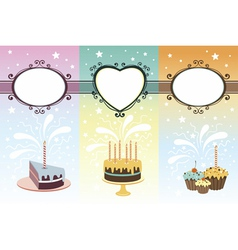 Set of calebration banners vector image