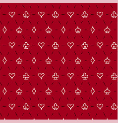 playing card suits seamless pattern background vector image