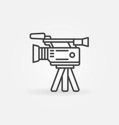 Professional video camera icon vector