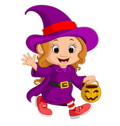 cute young witch vector image
