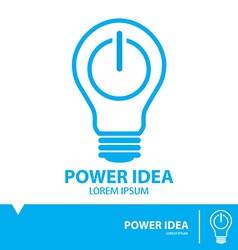 Power idea symbol icon vector