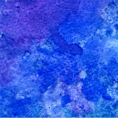 blue and ultramarine grunge watercolor background vector image
