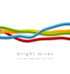 Isolated bright wires on white background vector