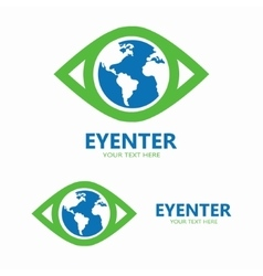 World eye logo vector