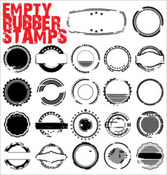 Empty grunge rubber stamps vector
