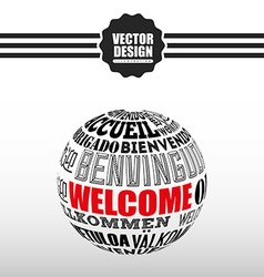 Welcome icon design vector