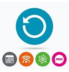 Repeat icon refresh symbol loop sign vector
