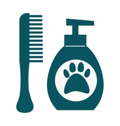 Dog hygiene icon vector