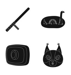 Animal history and or web icon in black style vector