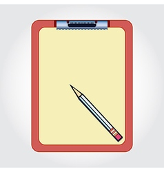 Blank clipboard and pencil vector image