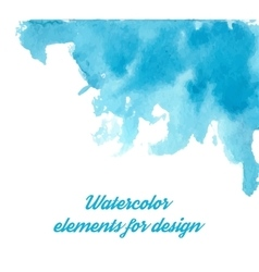 Blue watercolor background for textures and vector image vector image