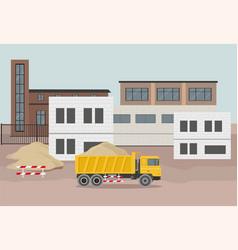 Building factory industry zone vector