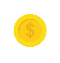 coin of money vector image vector image