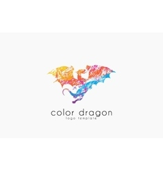 Dragon logo color dragon logo creative logo vector