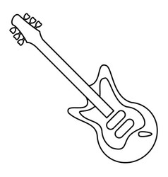 electric guitar musical instrument thin line vector image