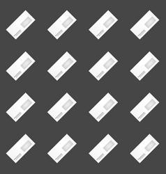 Envelope seamless pattern vector