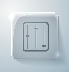 equalizer Glass square icon vector image vector image