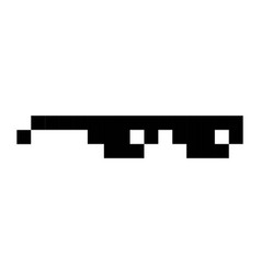 glasses geek pixel art cartoon retro game style vector image vector image