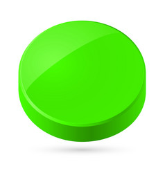 green disk isolated on white background vector image vector image