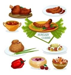 Hungarian cuisine icon for restaurant menu design vector