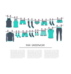 Men underwear clothing vector