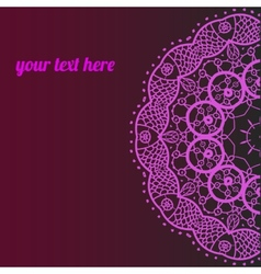 ornamental indian half mandala frame for text vector image