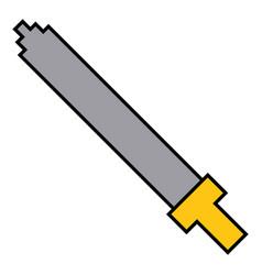 Pixel sword weapon warrior battle vector