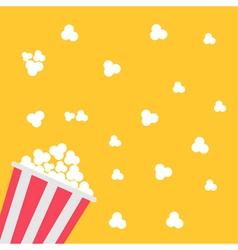 Popcorn bag cinema icon in flat design style vector