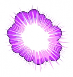purple blow up vector image vector image