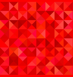Red triangle tile mosaic background - vector