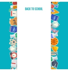 School background concept vector image