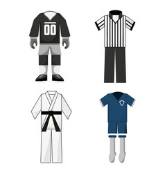 Set uniforms of sport game to competition vector
