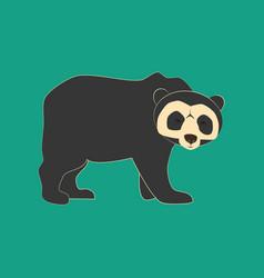 Spectacled bear animal vector