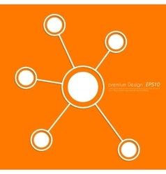 Stock linear icon social ties vector