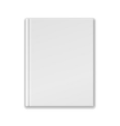 White Blank Book Or Notebook Template vector image