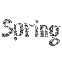Word Spring vector image vector image
