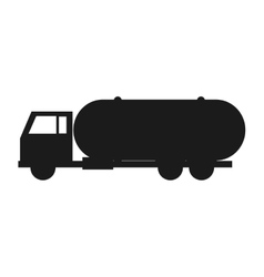 Fuel tanker truck or cistern truck icon vector image