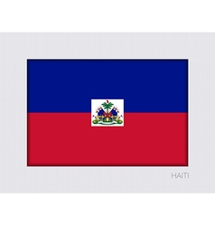 Flag of haiti aspect ratio 2 to 3 vector