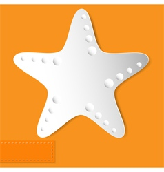 Starfish orange background vector