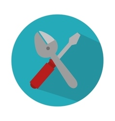 Screwdriver and wrench isolated icon vector