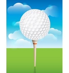 Golf ball on tee background vector