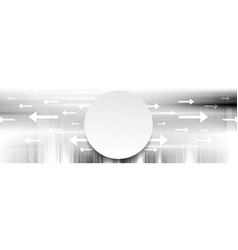 Grey abstract tech banner background vector
