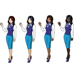 Air hostess 3 vector